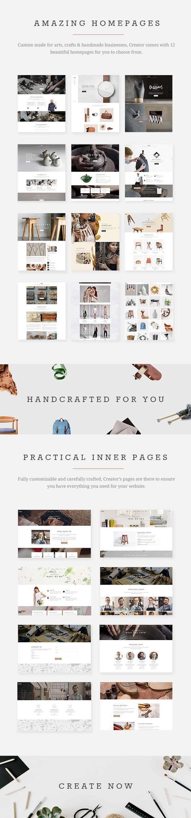 Creator - Theme for Handmade Artisans - 1
